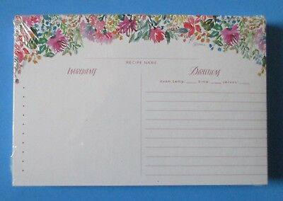 Delightful Days pack 50 RECIPE CARDS Legacy floral bridal shower gift - Bridal Shower Recipe Cards