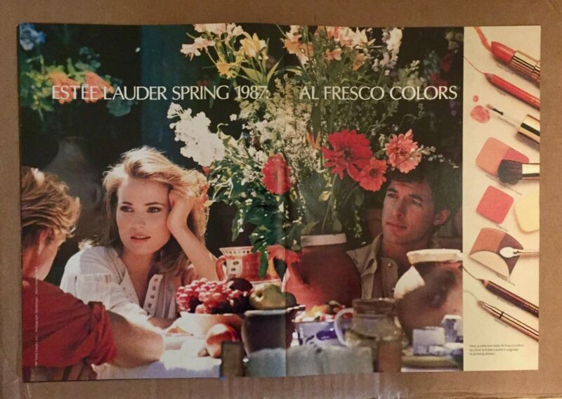 1987 Estee Lauder Print Ad Willow Al Fresco Colors Beautiful Condition