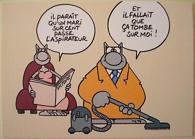 Geluck - Le Chat - Carte postale publicitaire Le Soir Victoire # 2