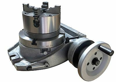 The Adapter And 4 Jaw Chuck For Mounting On A 8 Rotary Table