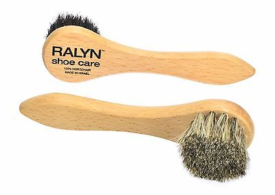 Shoe Polish Daubers. Light and Dark Bristles Dauber. 100% Horsehair Bristles. - Horsehair Polish