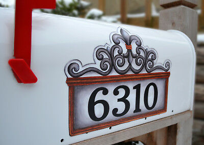 - Mailbox Magnet Partial Cover  Fleur de Lis White  PERSONALIZED Mail Box