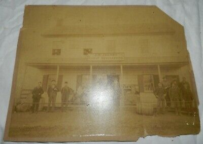 Vintage Cabinet Card Photo of Store Front, J.O. Jacobs Cheap Merchandise