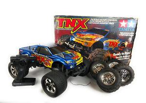 Tamiya 1/8 TNX Monster Truck RC CAR 4WD Nitro Glow Engine Clean With Box