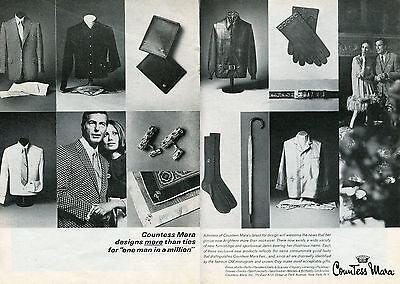 1969 Countess Mara Neckware Ties & Sportswear 2 Page Print Ad