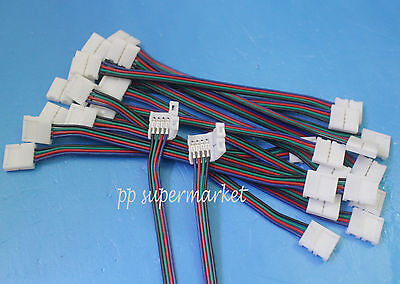 10 Pcs 4pin Rgb Connector Wire Cable For 3528 5050 Smd Led Strip Male Female