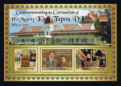 Tonga - 2015 - Coronation of King Tupou VI Postage Stamp Souvenir Sheet