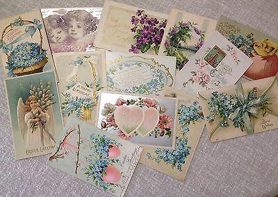 27 Vintage Postcards Pink Roses Easter Shabby Cottage Chic