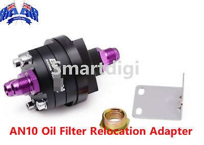 AN10 Oil Filter Relocation Adapter Mount Remote Cooler Skyline Silvia Universal