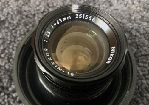 Nikon 63mm f3.5 EL Nikkor Enlarging Lens FLAWLESS GLASS!
