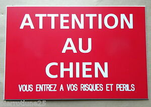plaque-gravee-ATTENTION-AU-CHIEN-VOUS-ENTREZ-RISQUES-ET-PERILS-150-x-100-mm