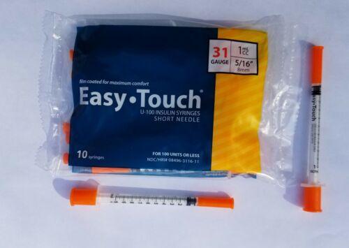 1 pack of 1 ml  insulin Syringe, 31g  5/16 . Buy 2 get 1 fre