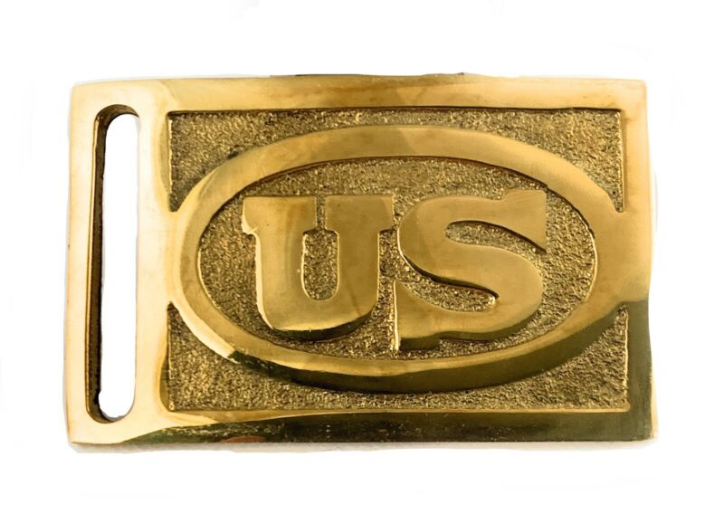 🌟American Indian Wars M1874 Enlisted Cavalry Solid Brass Belt Buckle, Repro