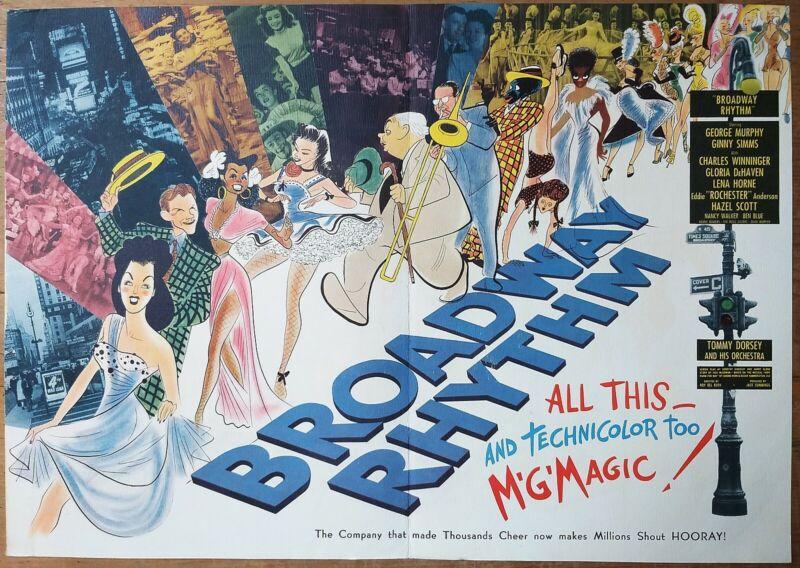 HIRSCHFIELD artwork better than poster, BROADWAY RHYTHM, from Campaing Book,1944