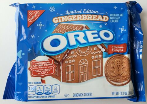 NEW Nabisco Oreo Gingerbread Flavored Creme Sandwich Cookies FREE SHIPPING