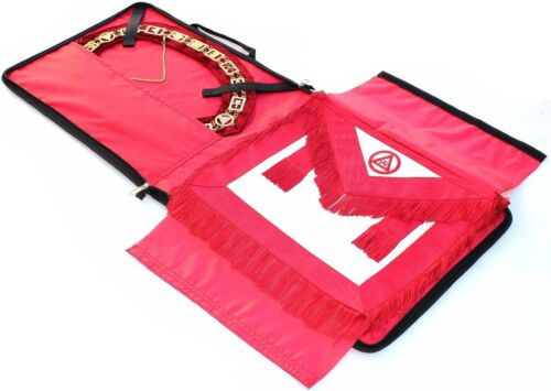 Masonic Regalia COLLAR AND APRON BAG CASE RED (CASE ONLY)