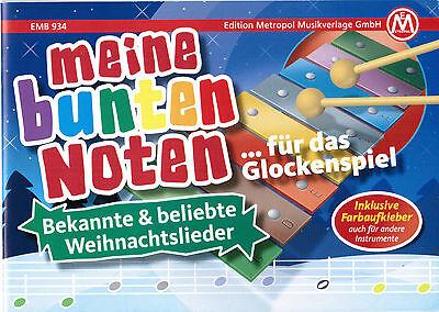 Glockenspiel Melodica Noten Meine bunten Noten WEIHNACHTSLIEDER Farben - B-WARE