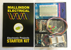 Electronic Project Beginners Starter Kit quality components pack with breadboard