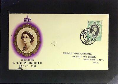 Nigeria - 1953 Queen Elizabeth II Coronation FDC / Minkus Cache - Z2356 for sale  Shipping to India