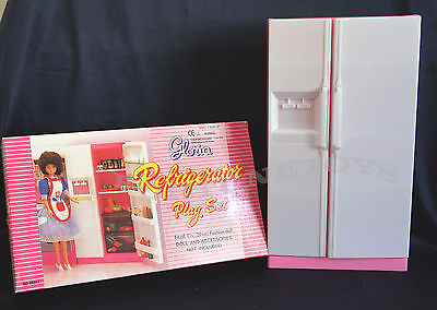 GLORIA DOLL HOUSE SIZE FURNITURE Double Doors REFRIGERATOR PLAYSET FOR DOLLS