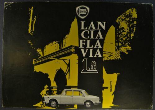 1964-1965 Lancia Flavia 1.8 Sedan Sales Brochure Sheet Nice Original