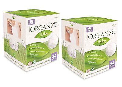 ORGANYC Bebé Algodón Orgánico Lactancia Almohadillas 24pcs