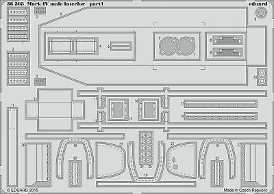 Eduard Accessories 36303 - 1:35 Mark Iv Male Interior For Tamiya - Ätzsatz - Neu