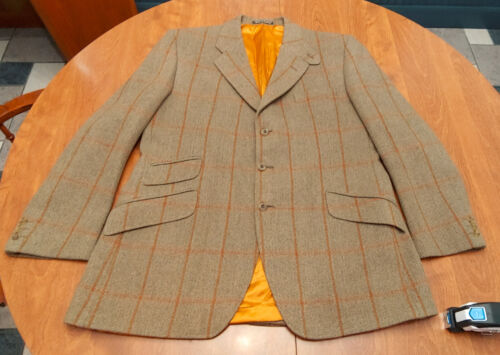 Swaine & Adeney, tweed hacking coat jacket Mens ~44-  foxhunt