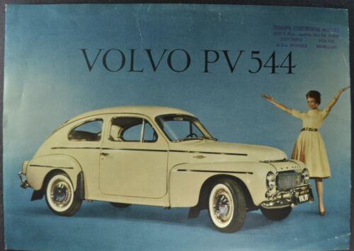 1960 Volvo PV 544 Sedan Sales Brochure Sheet Nice Original 60