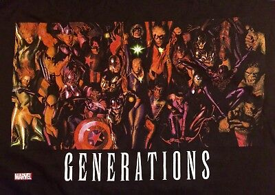 Marvel Generations Alex Ross Black T  Lg Exclusive To Comic Stores