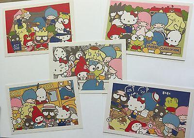 Sanrio Promo Hello Kitty & Friends 5 Postcard Set Back to School Class of 2016 -