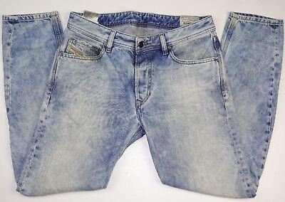DIESEL Rombee Regular Slim Carrot Button Fly Light Blue Cotton Jeans Sz 30 x 32
