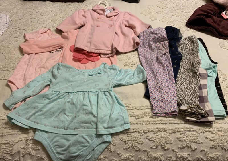 Baby Girl Clothes 18-24 Months Lot 10 Items