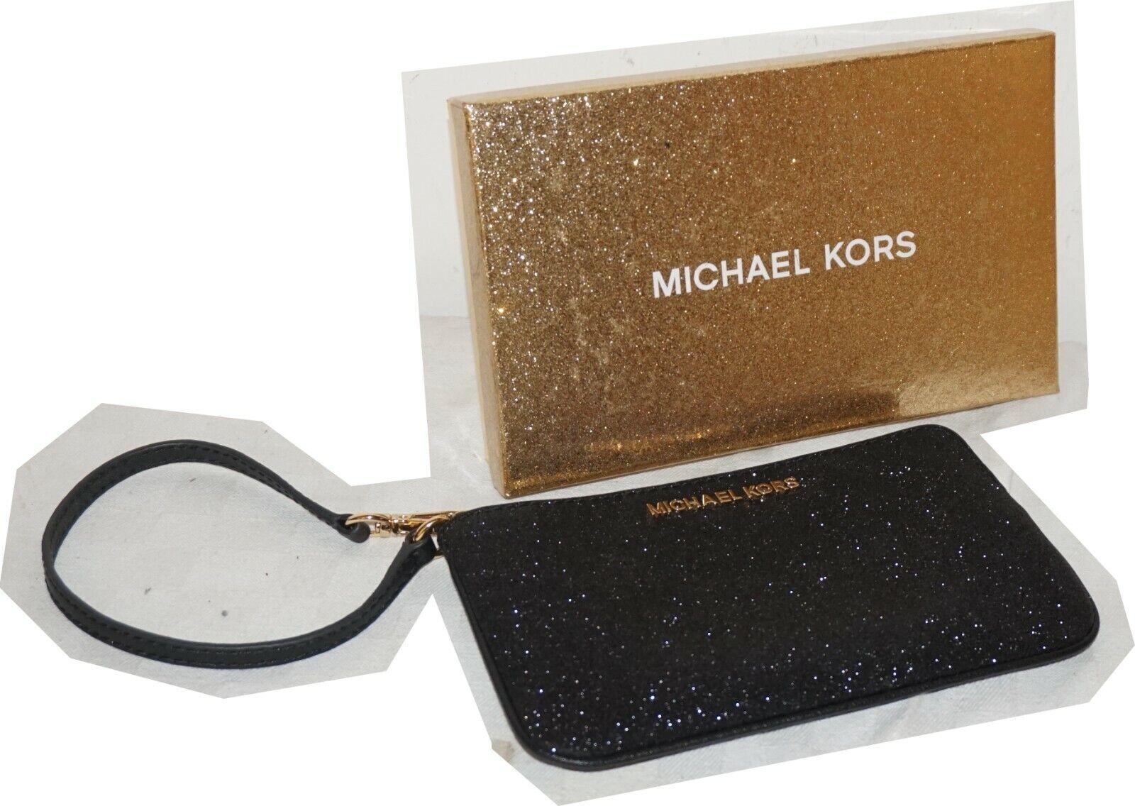 MICHAEL KORS Damen CLUTCH-Tasche WRISTLET GIFTABLES pale gold mit Glitzer