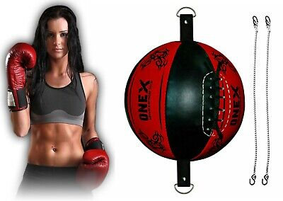 Double End Leather Dodge Speed Ball Floor to Ceiling MMA//UFC Boxing Punching Bag