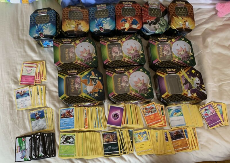 Pokemon TCG cards, hidden fates shiny fates, 12 boxes and 500+cards!!!