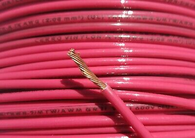 14 Gauge Stranded Wire - 500' ft, 14 AWG Gauge, Red Stranded Copper Power Wire, THHN, THWN-2, MTW, USA