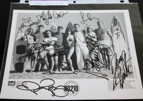 Beverly Hills 90210 CAST X8 ORIGINAL HAND SIGNED AUTOGRAPH #200 PHOTO PHOTOGRAPH