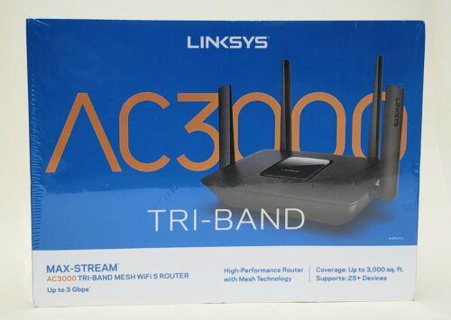Linksys MAX-STREAM Tri-Band Mesh WIFI Internet Router AC3000