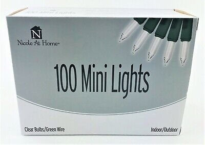 Indoor Halloween Decoration Crafts (100 Clear Mini String Indoor Lights Green Wire Decoration Holiday Crafts)