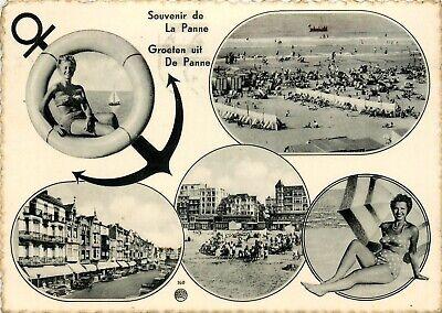 Mooie oude prentkaart, 'Groeten uit DE PANNE' (PK2572)