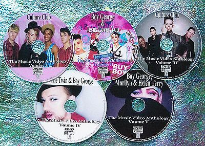 Button & FREE CULTURE CLUB BOY GEORGE 103 Music Video Collection 1982-2016 5 DVD