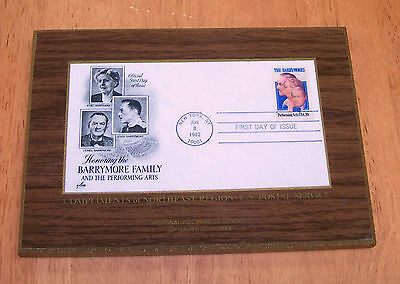 (Commemorative Plaque - BARRYMORE FAMILY - Stamps - 1982)