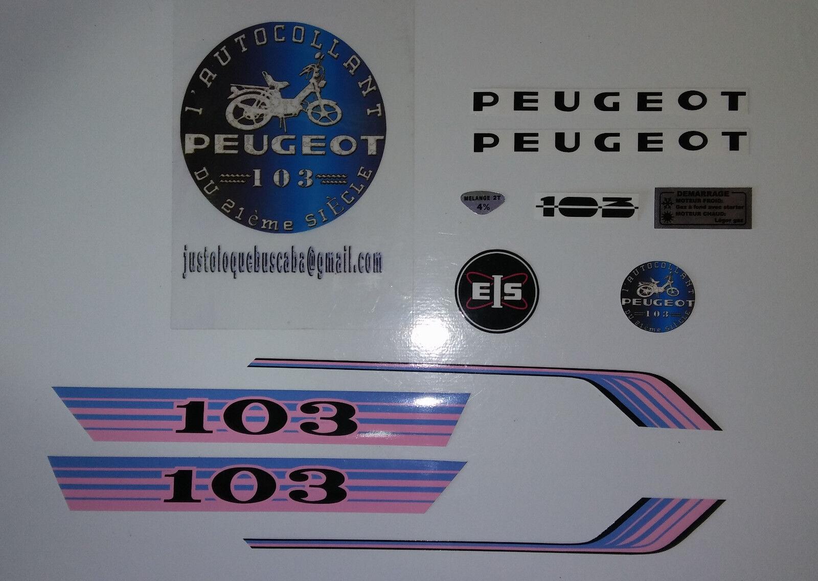 Autocollant Peugeot 103 Vogue.