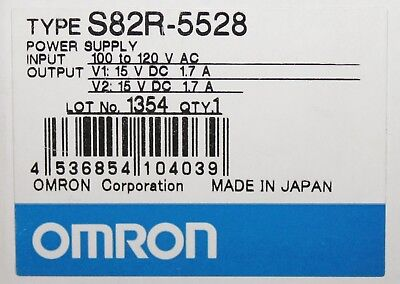Omron S82r 5528 Input 100-120 Vac Output 15 Vdc Power Supply 1.7 Amp