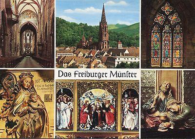 Alte Postkarte -  Das Freiburger Münster