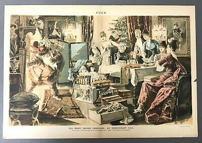 [Charles Jay Taylor] Satirical Christmas Print from Puck Magazine  December 1887 ()