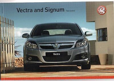 Vauxhall Vectra & Signum 2007 brochure in mint condition