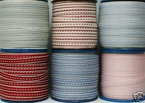 East-Of-India-Stitched-Ribbon-9mm-1-3-or-10-Metres-Assorted-Colours
