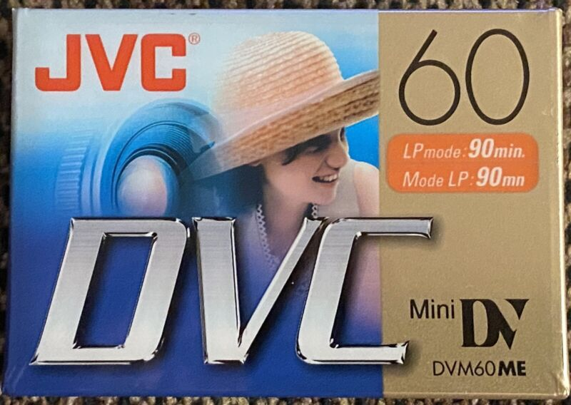 JVC DVC 60 Minute Digital Video Mini DV Cassette Tape JVCM-DV60DU Lot Of 10